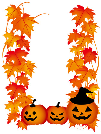 The Halloween illustration of a maple Vector