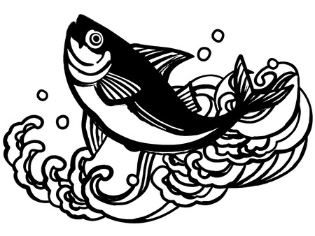 fisheries: Healthy fish of the sea Illustration