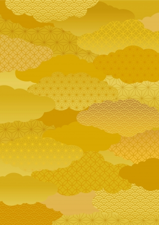new year s card: Pattern of the kimono