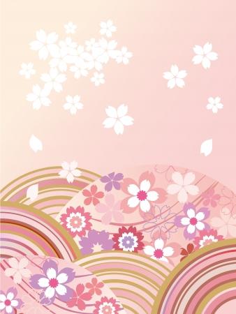美しい桜のイラスト  イラスト・ベクター素材