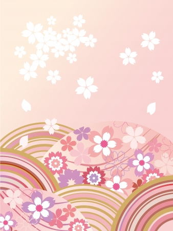 Illustration of beautiful Japanese cherry Ilustrace