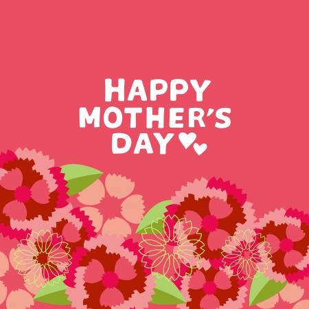 Illustratie van Carnation Mother's Day Stock Illustratie
