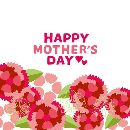 Ilustracja Dzień Matki s goździk