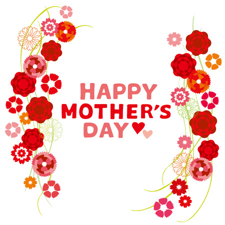 Ilustracja goździk Dzień Matki Ilustracje wektorowe