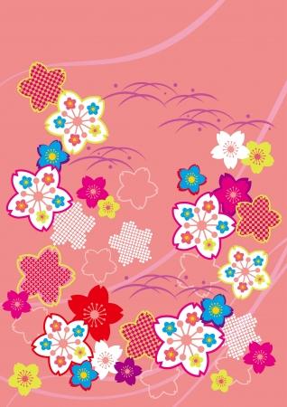 flor de sakura: Modelo de la cereza Vectores