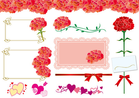 mother s day: Illustration of Carnation Mother s Day
