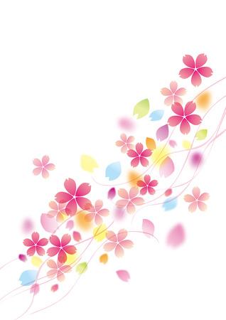 flor de sakura: Ilustración de la hermosa cerezo sakura