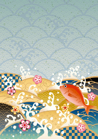 Sum pattern of the sea of Japan Stock Vector - 26428869