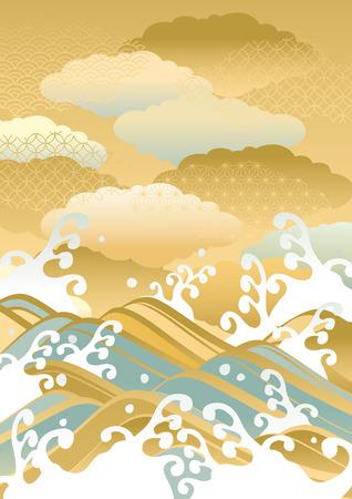 Landscape illustration of beautiful sea