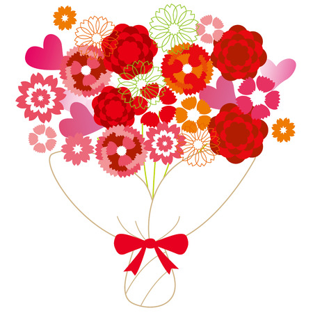 perennial: Illustration of Carnation Mother s Day