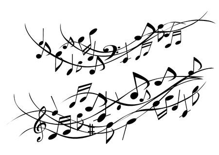 Illustraties van leuke muziek