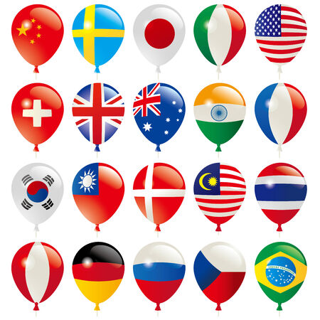 world flags: Balloons Flags of the world