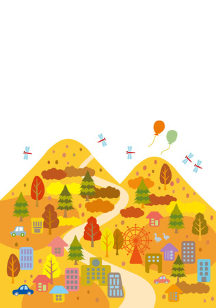 family hiking: Autumn Leaves is a beautiful town