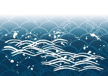 日本画の波 写真素材 - 30678775