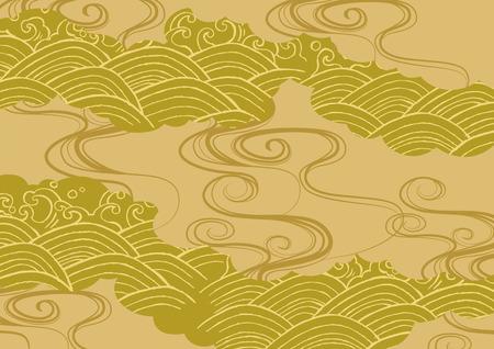 Pattern of beautiful Japanese kimono  イラスト・ベクター素材