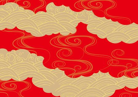Pattern of beautiful Japanese kimono Vectores