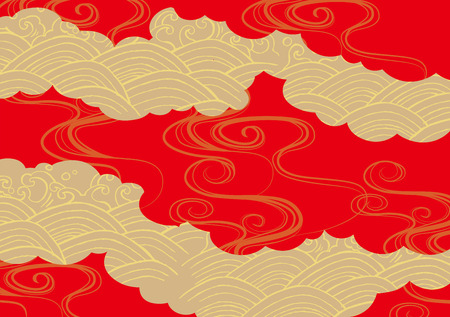 Pattern of beautiful Japanese kimono Stock Illustratie