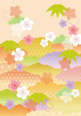 日本の美しいイラスト