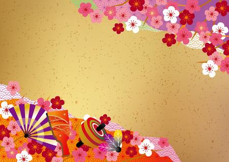 Japanischen Stil Hintergrund Vektorgrafik