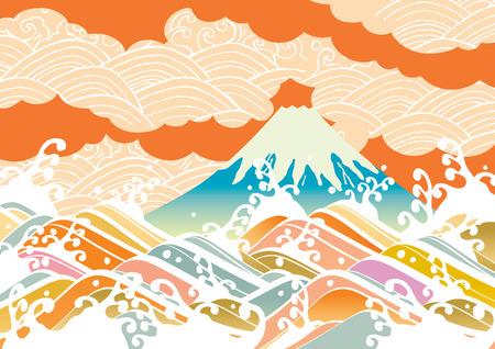 日本の富士  イラスト・ベクター素材