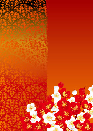 cherry pattern: Japanese style background
