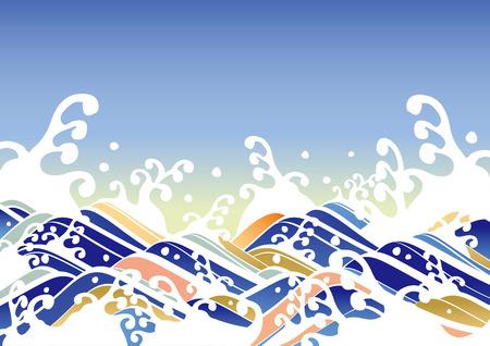 spindrift: Vibrant wave illustrations of Illustration