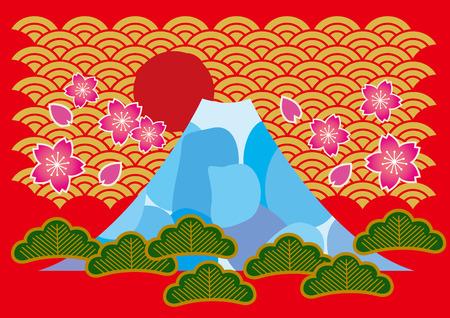 mt fuji: It is Mt. Fuji of illustrations of Japan