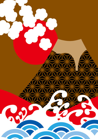 It is Mt. Fuji of illustrations of Japan
