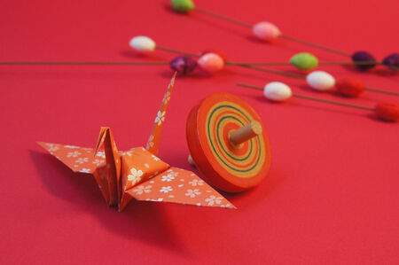 new year s card: Japan  's New Year crane Stock Photo
