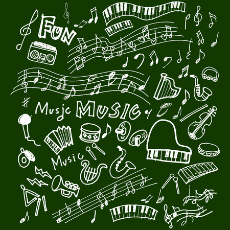 notas musicales: Instrumento de ilustraciones