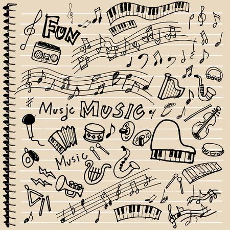 school band: Instrument of illustrations