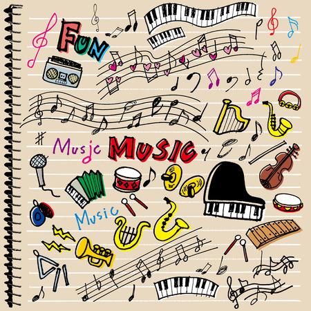 hand beats: Instrument of illustrations