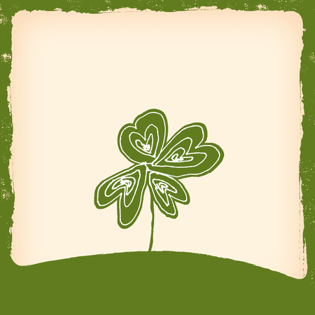 referred: Clover that is referred to happiness Illustration