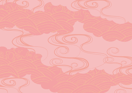핑크의 파도의 배경 무늬