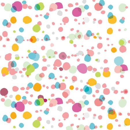 Polka dot achtergrond materiaal Stock Illustratie