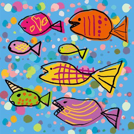bunter fisch: Bunte Fische uns