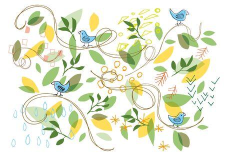 leaf background: Scandinavian leaf background
