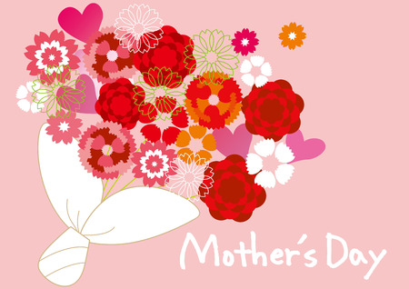 Anjer van Mother's Day Stock Illustratie