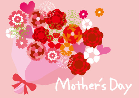 Carnation of Mother \ 's Day Stock Illustratie