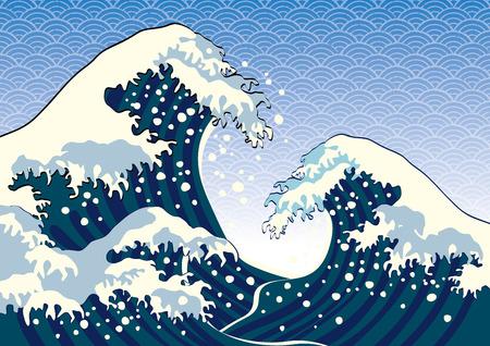 vague: La vague d'une peinture japonaise