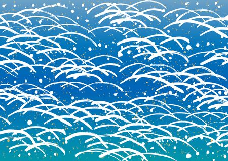 woodblock: The wave of a Japanese painting