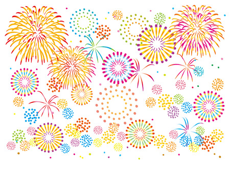 Fun fireworks illustrations