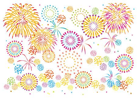 Fun fireworks illustrations
