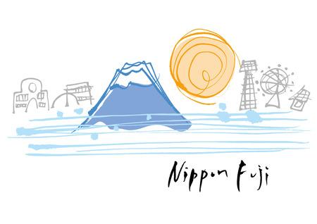 Views of the beautiful Japan Mount Fuji
