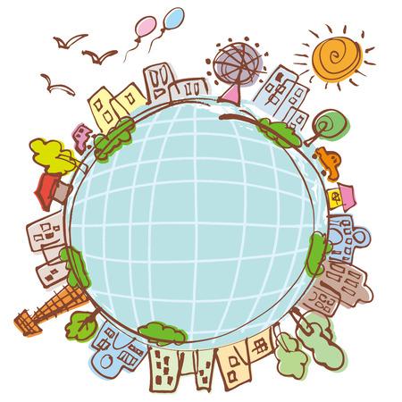 inclusion: Eco Earth Illustration