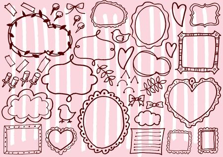 picture card: Cute frame Illustration