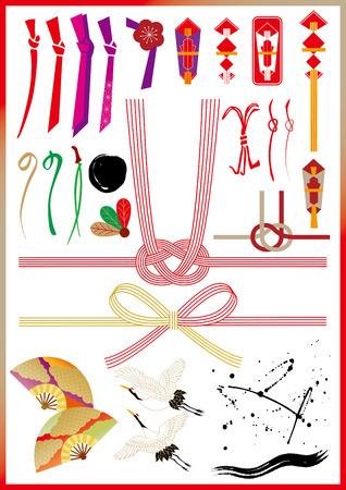 Materiaal van de Japanse New Year Stock Illustratie