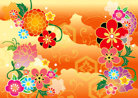 japanese new year: The beautiful pattern of Japan