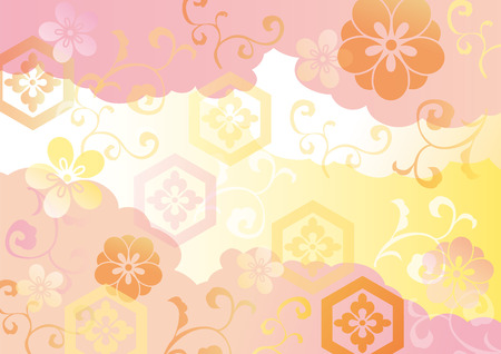 japanese pattern illustration: The beautiful pattern of Japan