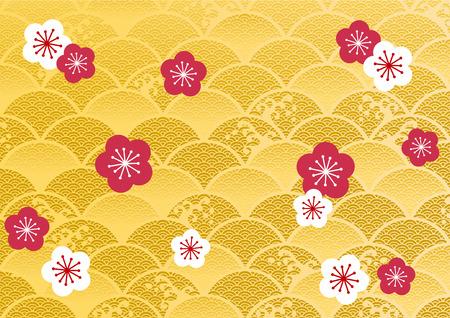 日本の美しい文様  イラスト・ベクター素材